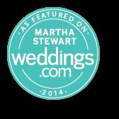 As Featured on Martha Stewart Weddings